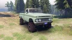 Chevrolet С-10 1966 Personnalisé de deux tons de saule vert pour Spin Tires