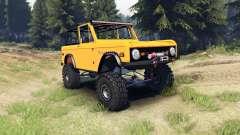Ford Bronco 1966 [orange] pour Spin Tires
