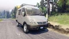 Le GAZ de Zibeline 27527 4x4 pour Spin Tires
