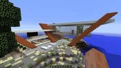 Diagonal Ultra Minimal Island Home pour Minecraft