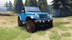 Jeep Wrangler blue pour Spin Tires