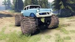 Chevrolet Bel Air 1955 Monster blue für Spin Tires