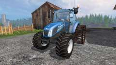 New Holland T4.75 v2.0 avec des roues en acier