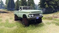 Chevrolet С-10 1966 Personnalisé de saule vert pour Spin Tires