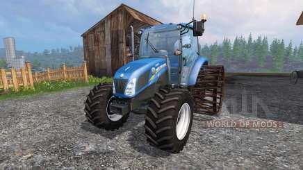 New Holland T4.75 v2.0 avec des roues en acier pour Farming Simulator 2015