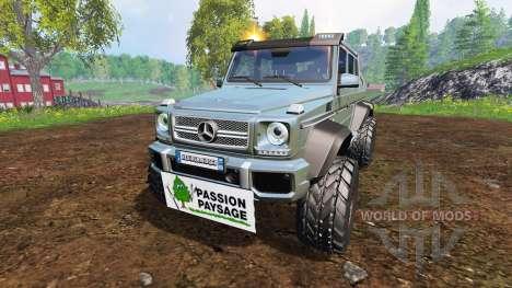 Mercedes-Benz G65 AMG 6x6 [passion paysage] pour Farming Simulator 2015