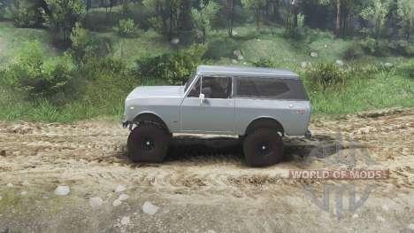 International Scout II 1977 [agent silver] für Spin Tires