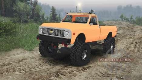 Chevrolet C10 Cheyenne 1972 [orange] für Spin Tires