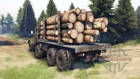 KrAZ-256 8x8 Personnalisé pour Spin Tires