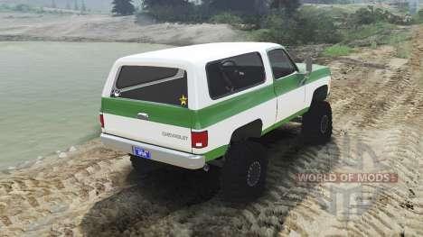 Chevrolet K5 Blazer 1975 [green and white] für Spin Tires