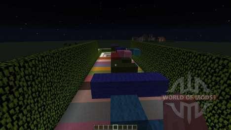 Rainbow Parkour pour Minecraft