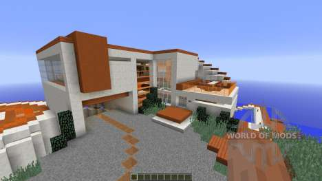 Modern Tony Stark Based Cliff-side Mansion pour Minecraft