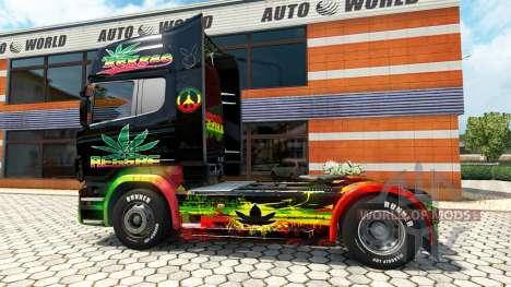 Reggae-skin für den Scania truck für Euro Truck Simulator 2