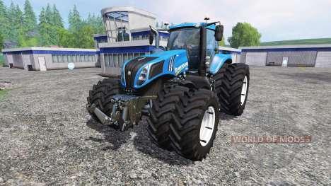 New Holland T8.435 DuelWheel v4.0.1 pour Farming Simulator 2015