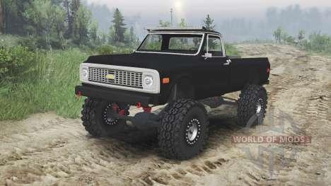 Chevrolet C10 Cheyenne 1972 [black] für Spin Tires