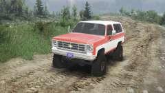 Chevrolet K5 Blazer 1975 [orange and white] für Spin Tires