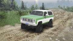 Chevrolet K5 Blazer 1975 [green and white] pour Spin Tires