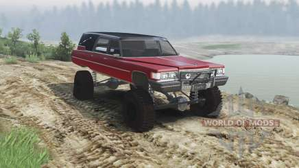 Cadillac Hearse 1975 [monster] [blood red and bl für Spin Tires