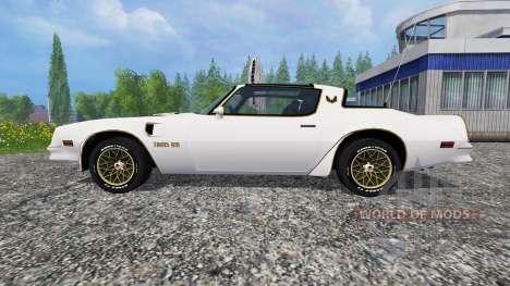 Pontiac Firebird Trans Am 1977 v1.1 pour Farming Simulator 2015