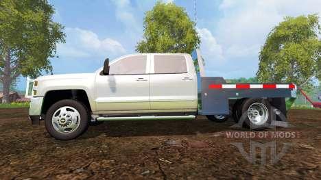 Chevrolet Silverado 3500 [flatbed] v7.0 pour Farming Simulator 2015
