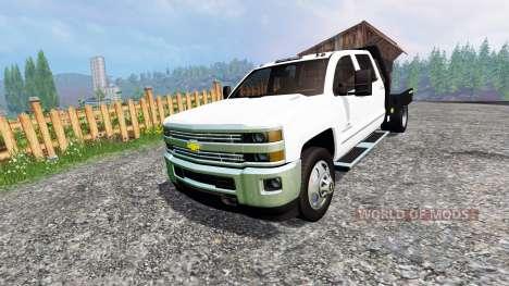 Chevrolet Silverado 3500 [flatbed] für Farming Simulator 2015