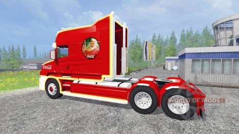 Scania T164 Coca-Cola Christmas pour Farming Simulator 2015