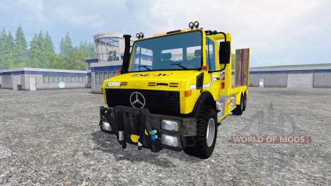 Mercedes-Benz Unimog [cartransporter] pour Farming Simulator 2015