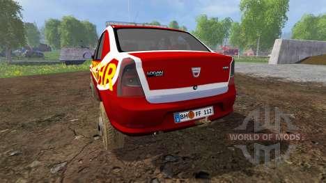 Dacia Logan [feuerwehr] pour Farming Simulator 2015