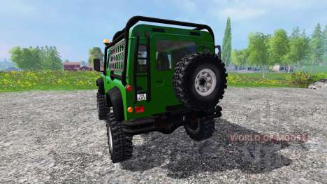 Land Rover Defender 90 [green] pour Farming Simulator 2015
