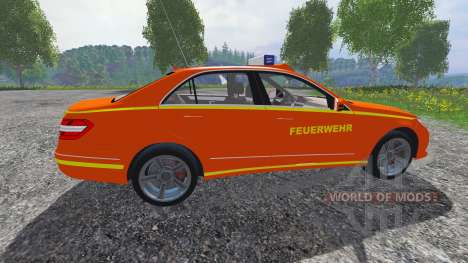 Mercedes-Benz E63 (W212) [feuerwehr] pour Farming Simulator 2015