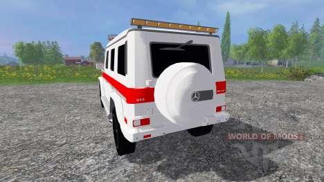 Mercedes-Benz G65 AMG Ambulance für Farming Simulator 2015