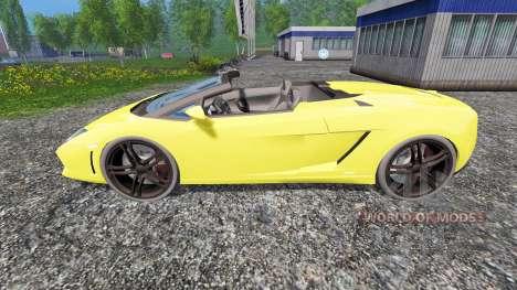 Lamborghini Gallardo Spyder pour Farming Simulator 2015