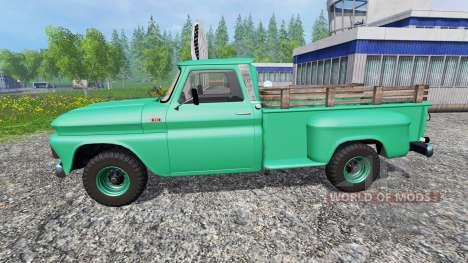 Chevrolet C10 Fleetside 1966 [custom] v1.1 pour Farming Simulator 2015
