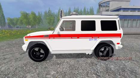 Mercedes-Benz G65 AMG Ambulance pour Farming Simulator 2015