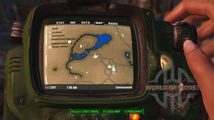 Carte de la couleur avec des symboles pour Fallout 4