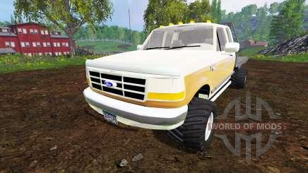 Ford F-150 XL 1992 [flatbed] pour Farming Simulator 2015