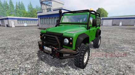 Land Rover Defender 90 [green] pour Farming Simulator 2015