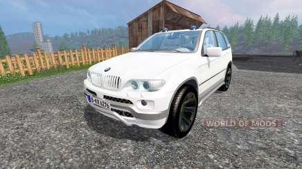 BMW X5 Unmarked Police pour Farming Simulator 2015