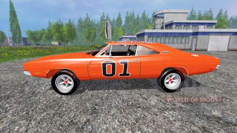 Dodge Charger RT 1969 General Lee pour Farming Simulator 2015