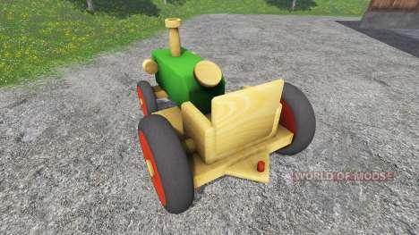 Tracteur en bois pour Farming Simulator 2015