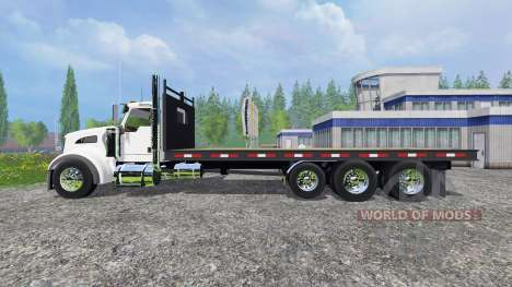 Kenworth T440 [flatbed] pour Farming Simulator 2015