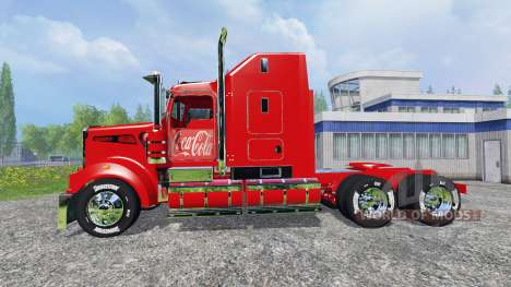 Kenworth T908 [Coca-Cola trailer] pour Farming Simulator 2015