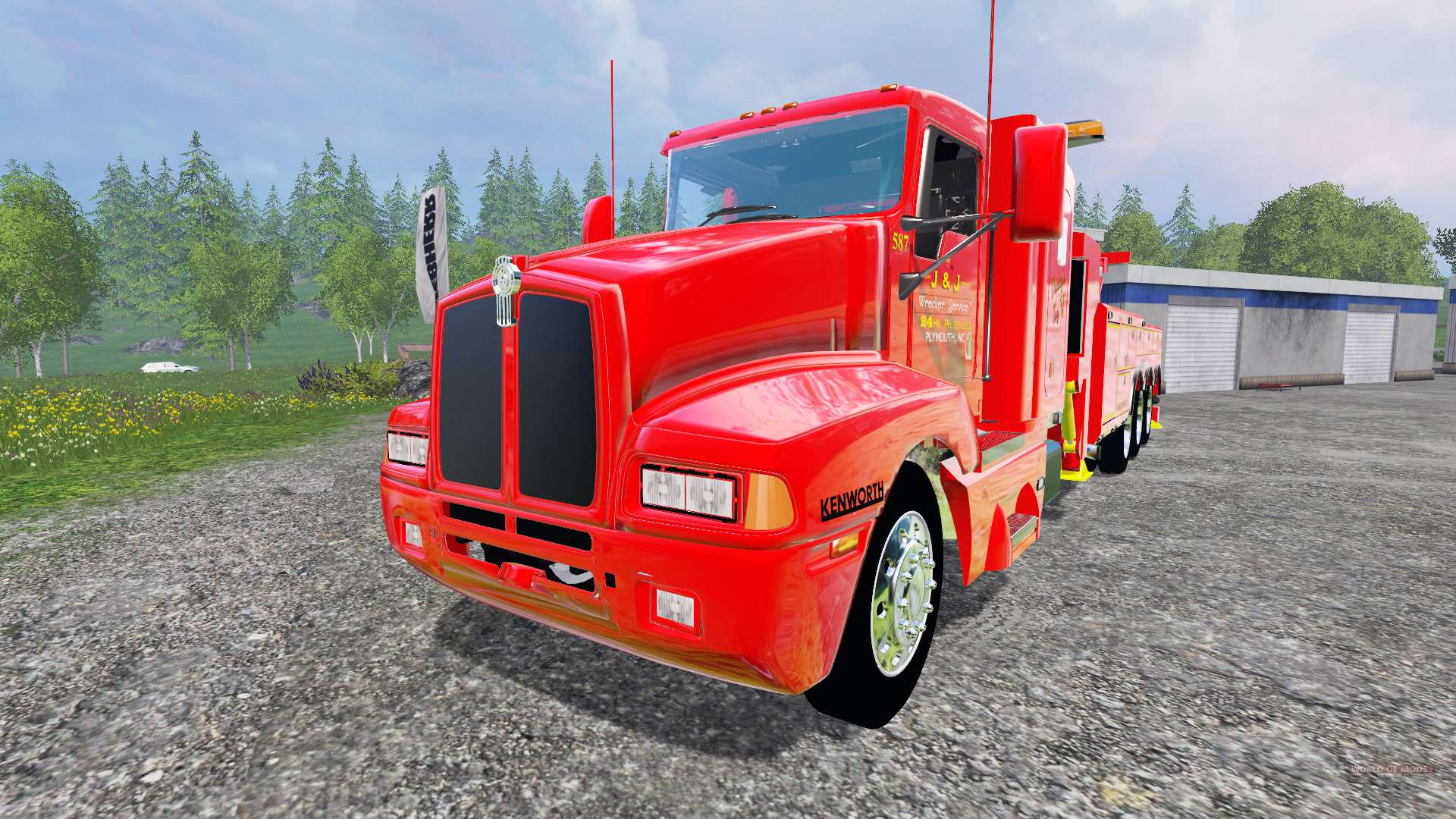 kenworth t600b tow truck pour farming simulator 2015. Black Bedroom Furniture Sets. Home Design Ideas