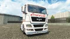 Haut Coca-Cola auf dem LKW MAN für Euro Truck Simulator 2