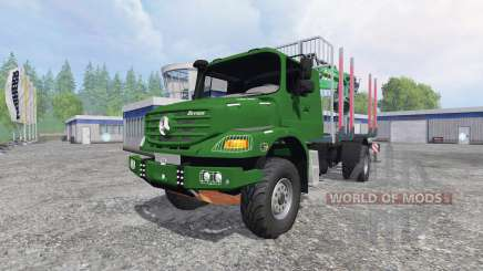 Mercedes-Benz Zetros 1833 [forest] v0.9 pour Farming Simulator 2015