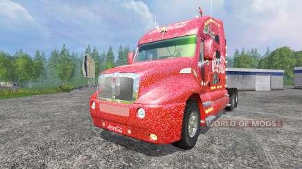 Kenworth T2000 [Coca-Cola Christmas] v1.1 für Farming Simulator 2015