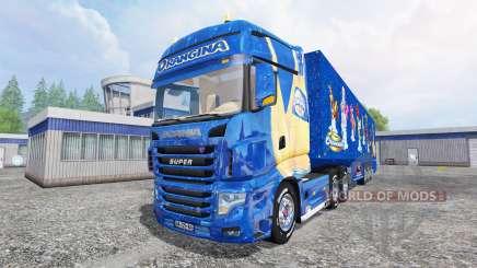 Scania R700 [Orangina] pour Farming Simulator 2015