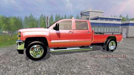 Chevrolet Silverado 3500 [flatbed] v3.0 für Farming Simulator 2015