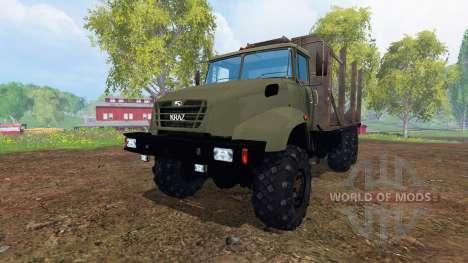 Le KrAZ B18.1 [bois] pour Farming Simulator 2015