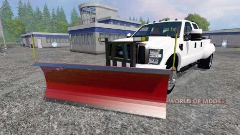 Ford F-250 [snow plow] pour Farming Simulator 2015